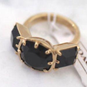 Coach Black crystal ring